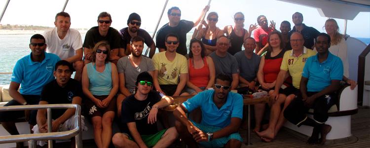 Unsere Gruppe - 16 vollmotivierte Tauchbegeisterte!