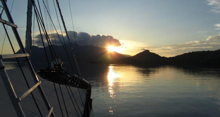 Reisebericht Forgotten Island - Sonnenuntergang