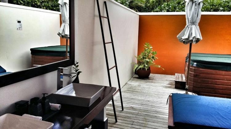 Open air Badezimmer