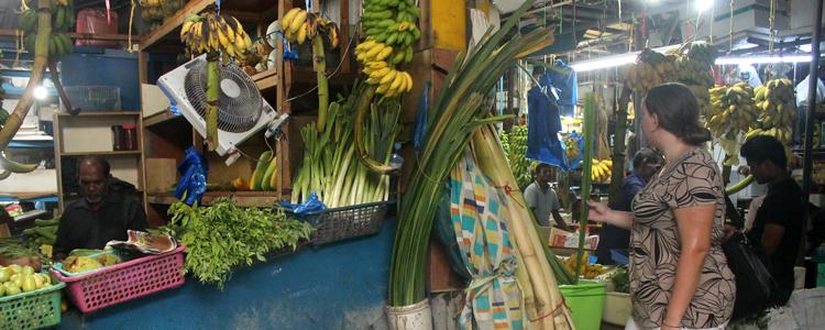 Pause auf dem lokalen Markt