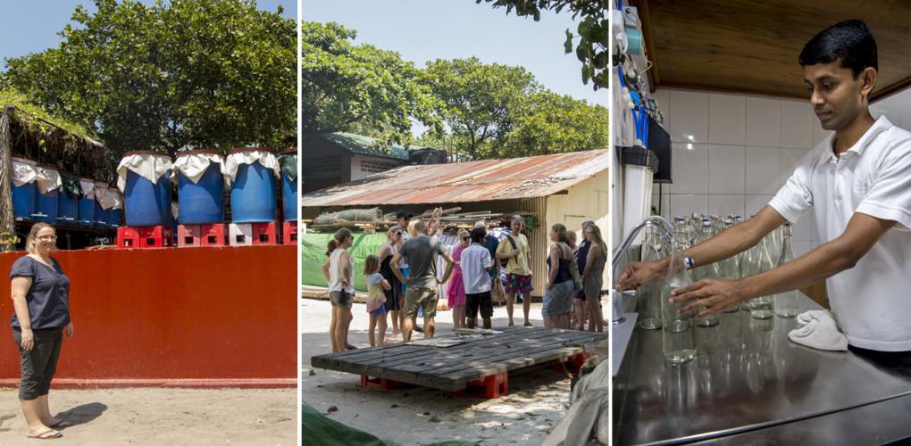 Den Blick hinter die Kulissen gibts auch für die Gäste: Wer mag, kann an einer «Technical Tour» mit eigenen Augen sehen, wo der Abfall sortiert wird, wie ein cleveres Energiemanagement und die Abwärmenutzung den Dieselverbrauch reduzieren, wo Bakterien das Abwasser reinigen und wie aus Mehrwasser Trinkwasser entsteht.