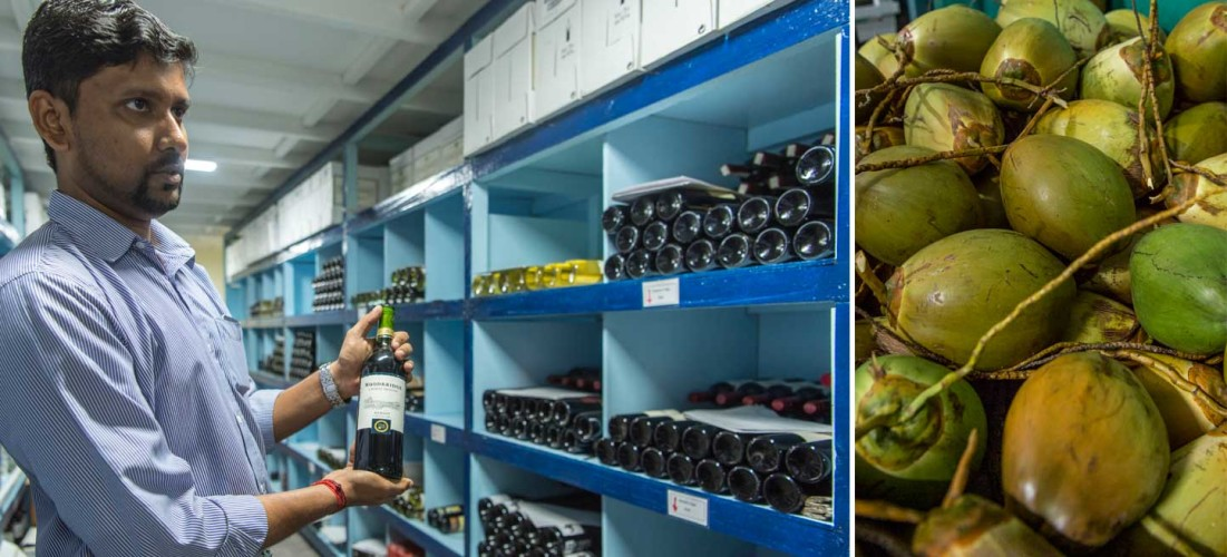 Immense Logistik: Ausser Kokosnuss, eine Handvoll Früchte und Fisch wird auf den Malediven so ziemlich alles importiert. Das braucht einiges an Planung und Erfahrung, damit von allem immer genug an Lager ist.