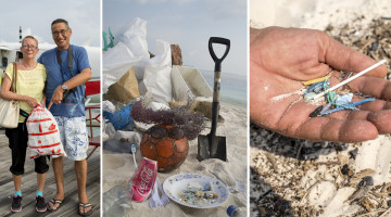 Angeschwemmt und liegengelassen: Der Abfallberg, den die Gäste- und Mitarbeiterschar in ein paar Stunden zusammenträgt, ist immens. Auf den Malediven gibt es so gut wie kein Recycling. Der gesamte Müll aller 300 bewohnter Inseln landet auf einer Abfallinsel oder irgendwo im Meer. Von Wind und Wetter zu Mikroplastik in Sandkorngrösse verkleinert, ist der Weg in unsere Nahrungskette nicht mehr weit.